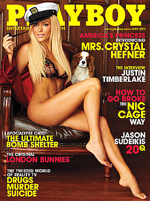 Crystal Harris, Hugh Hefner's Wife on Playboy Cover