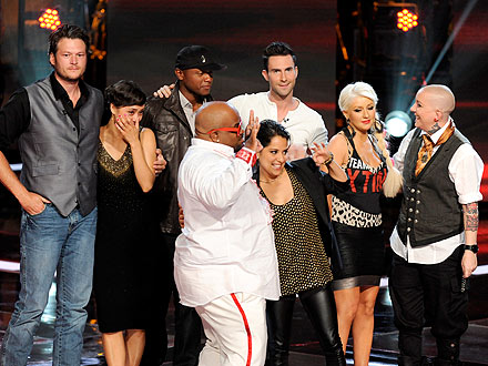 The Voice Finale: Dia Frampton, Beverly McClellan, Vicci Martinez, Javier Colon