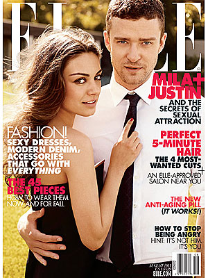 Justin Timberlake and Mila Kunis Talk to Elle Magazine