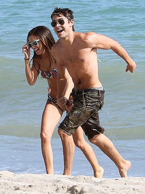 PHOTO: Shirtless Zac Efron Parties with Ashley Tisdale on the Beach | Ashley Tisdale, Zac Efron