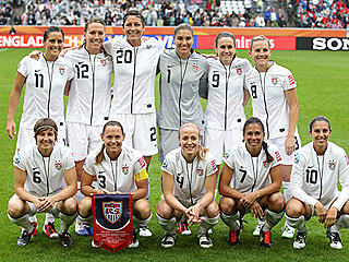 U.S. Women's Soccer Team Takes on Japan