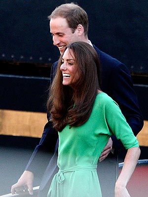 Kate Middleton at Zara Phillips Party: Wears Green DVF Dress