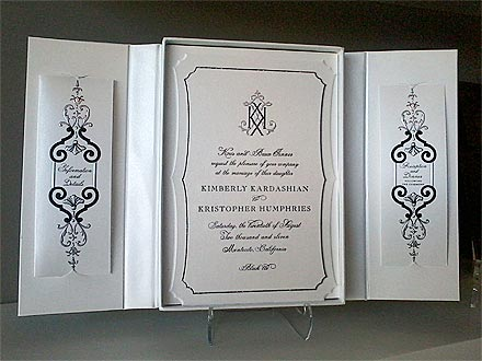 kim kardashian 1 440 Kim Kardashians Wedding Invite Revealed