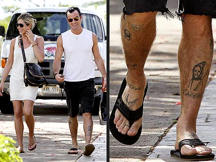 Justin Theroux: His Many Tattoos