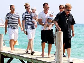 Neil Patrick Harris, Elton John Take Their Babies Yachting | David Burtka, David Furnish, Elton John, Neil Patrick Harris