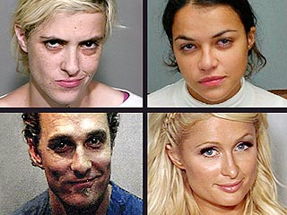 POLL: Which Celebrity Wins the Mug Shot Smirk-Off? | Matthew McConaughey, Michelle Rodriguez, Paris Hilton, Samantha Ronson