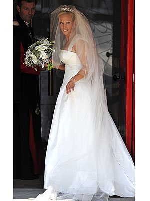 Zara Phillips's Wedding Dress: How She Got the Look| Weddings, The Royals, Mike Tindall, Zara Phillips