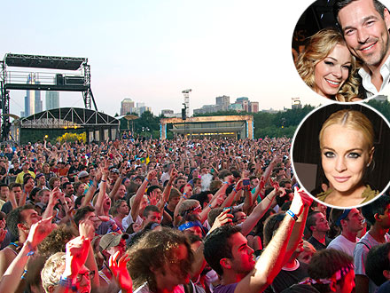 Lollapalooza: LeAnn Rimes, Lindsay Lohan Celebrity Sightings
