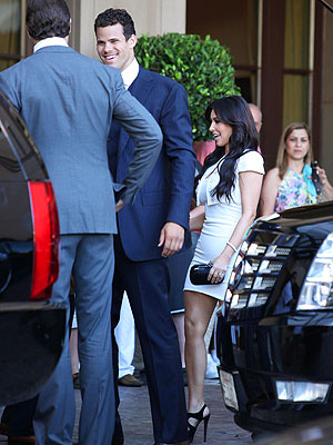 Kim Kardashian, Kris Humphries Enjoy Rehearsal Dinner