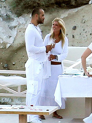 Tara Reid and Zack Kehayov's Wedding Photo in Greece