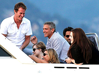 George Clooney Chills Out on a Boat &#8211; with Celeb Pals | Evan Rachel Wood, George Clooney, Randy Gerber