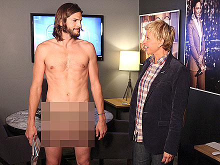 Ashton Kutcher Strips Down on Ellen DeGeneres Show