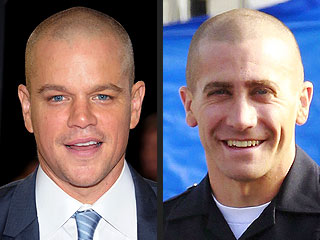 Matt Damon Envies Jake Gyllenhaal's Bald Head | Jake Gyllenhaal, Matt Damon