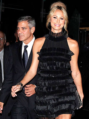 Stacy Keibler Is 'Living in the Moment' with George Clooney | George Clooney, Stacy Keibler