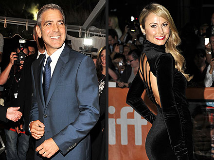 George Clooney, Stacey Keibler Party at Toronto International Film Festival