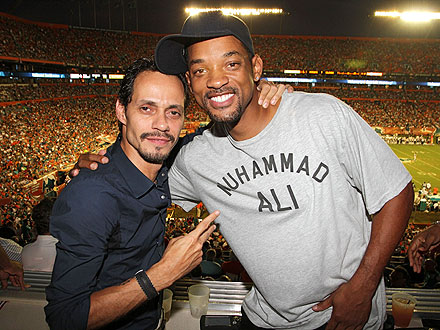 Miami Dolphins: Marc Anthony, Will Smith Get Chummy in the Skybox| Marc Anthony, Will Smith