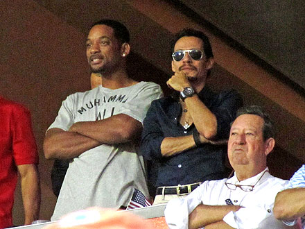 Miami Dolphins Cheered on by Will Smith, Marc Anthony