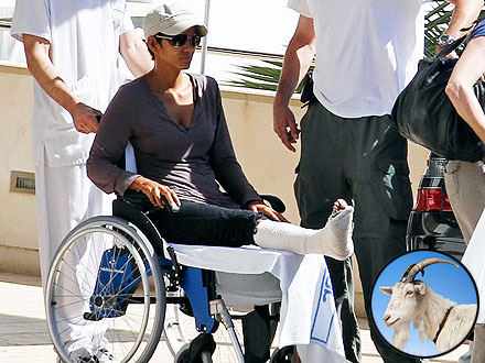 Halle Berry Broke Her Foot Chasing After a Goat | Halle Berry
