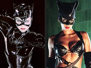 Anne Hathaway Steps Out in Her Catwoman Costume| Movie News, Anne Hathaway, Halle Berry, Michelle Pfeiffer