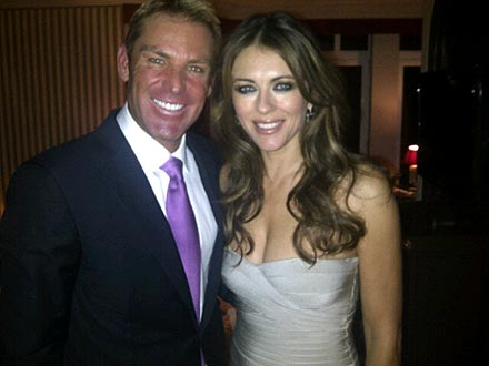Shane Warne and Liz Hurley engaged