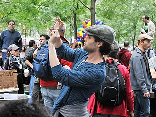 Tim Robbins, Penn Badgley Join 'Occupy Wall Street' Cause| politics, Real People Stories, Penn Badgley, Tim Robbins