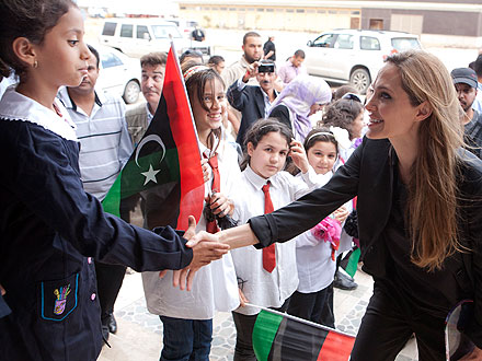 Angelina Jolie Visits Libya, Donates with Brad Pitt to Somali Relief Fund