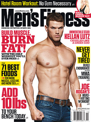 Kellan Lutz Shirtless on Men's Fitness Cover