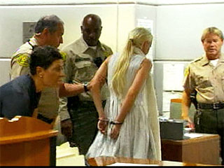 Lindsay Lohan Handcuffed in Court, Taken Into Custody| Crime & Courts, Lindsay Lohan
