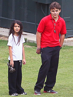 Paris Jackson Scores – on the Football Field