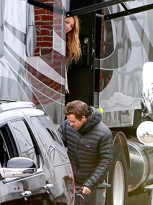 Blake Lively Visits Ryan Reynolds on Set in Boston