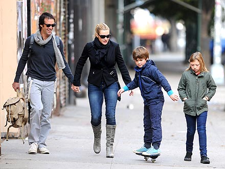 Kate Winslet Strolls with Her Kids &#8211; And New Man
