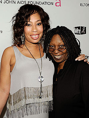 Whoopi Goldberg and daughter