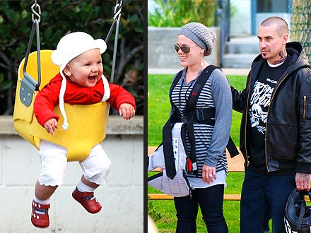 Pink & Carey Hart Take Willow for a Swing