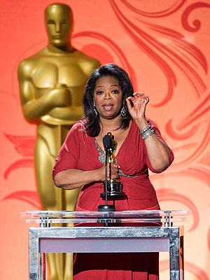 Oprah Gets Oscar for Her Humanitarian Work