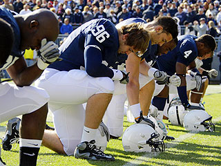 Penn State Holds Moment of Silence for Sexual Abuse Victims