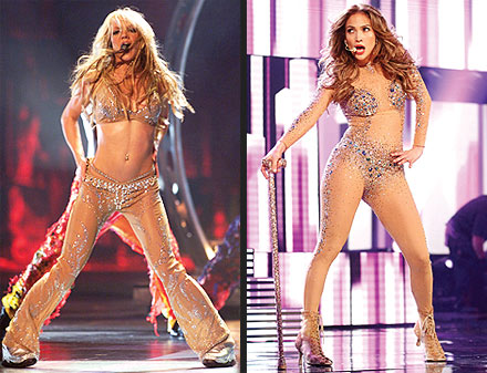 Jennifer Lopez Body Suit on Jennifer Lopez Lights Up The Amas   Britney Spears  Jennifer Lopez
