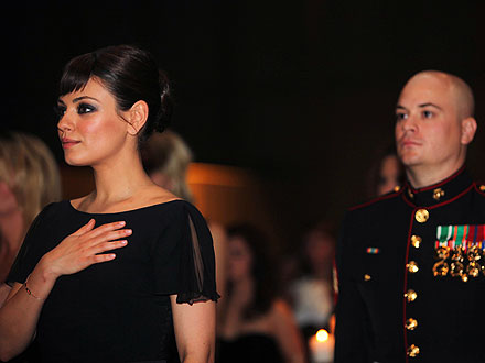Mila Kunis Attends Marine Corps Ball| Good Deeds, Real People Stories, Mila Kunis