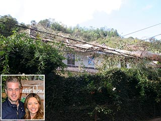 PHOTO: Damage at Eric Dane & Rebecca Gayheart's House from Winds | Eric Dane