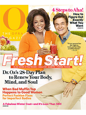 Dr. Oz: First Man on O Magazine Cover| Dr. Oz, Oprah Winfrey