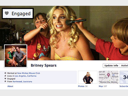 Britney Spears Makes It Official – on Facebook