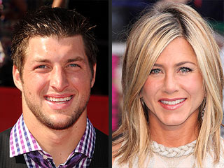 Who Are Tim Tebow's Favorite Actor and Actress? | Jennifer Aniston, Tim Tebow