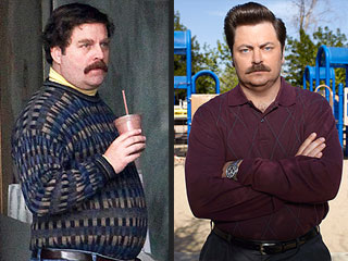 Is Zach Galifianakis Trying to Steal Ron Swanson&#39;s Swag? | Zach Galifianakis