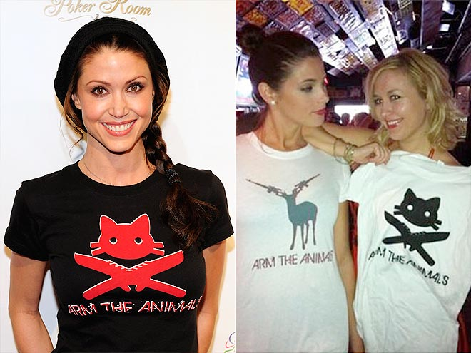 ARM THE ANIMALS TEES photo | Ashley Greene, Shannon Elizabeth