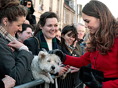 Kate Middleton Steps Out to Greet Her Furry Public