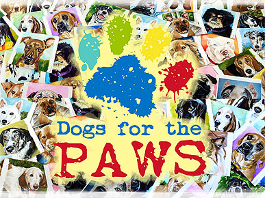 Dogs for the Paws Speaks (and Paints) for Shelter Pups