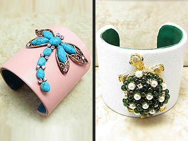 Etsy Fave! Bejeweled Cuffs Put Glamour on Your Wrist