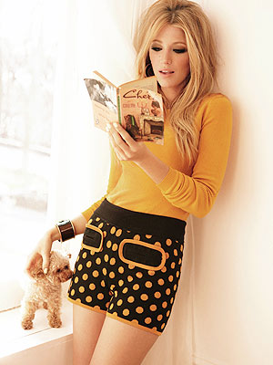 Blake Lively's Poodle Poses for Glamour