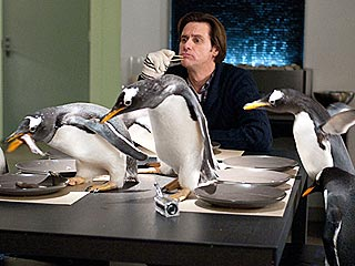 What's It Like Working with Penguins? Cold! | Jim Carrey