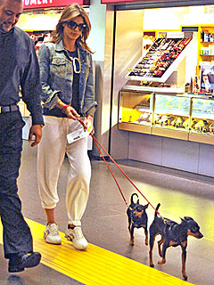 Elisabetta Canalis Steps Out with Her Dogs Post-Split | Elisabetta Canalis