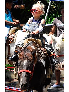 Spotted: Zuma Rossdale Goes to the Petting Zoo! | Zuma Rossdale
